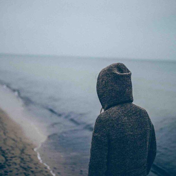 Ruminating walking on beach